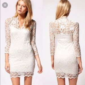 ASOS Lace 3/4 sleeve Dress